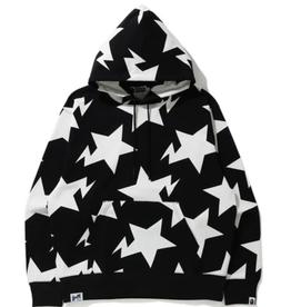 BAPE BAPE Relaxed STA Pattern Pullover Hoodie Black - XXL