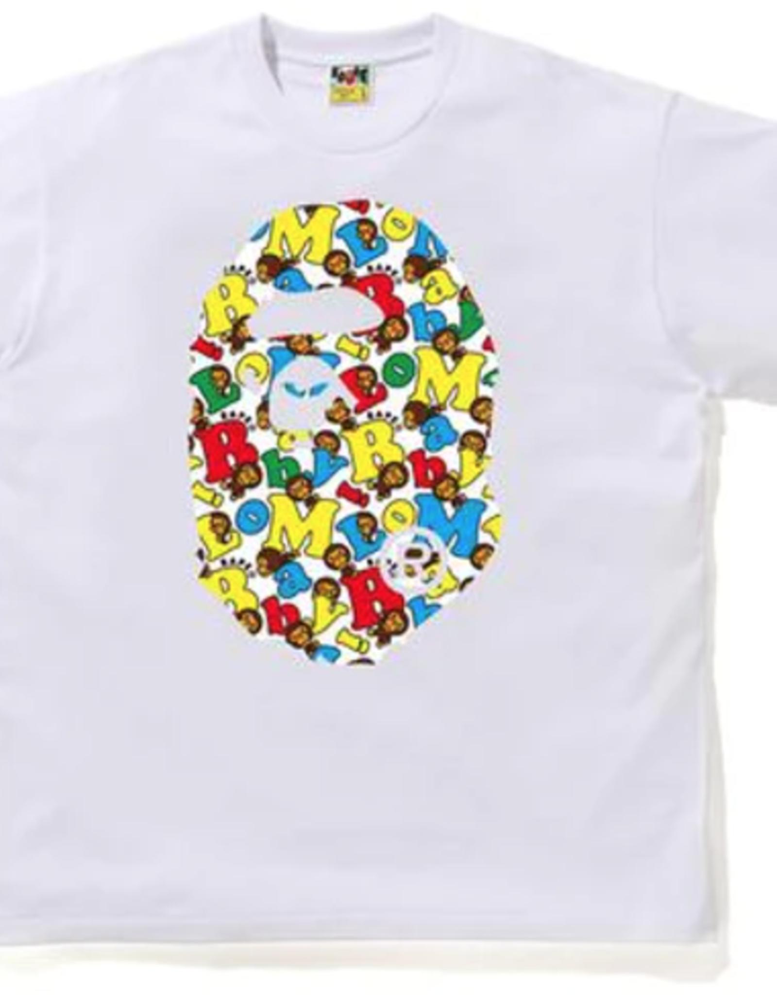 BAPE BAPE Baby Milo Alphabet Ape Head Relaxed Tee White - XL