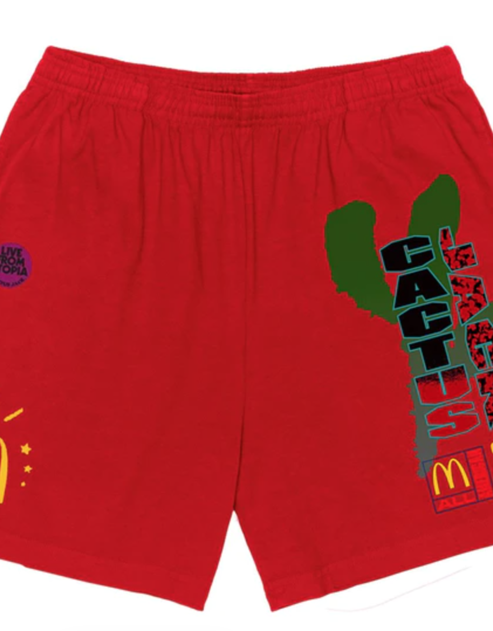 Travis Scott x McDonald's All American '92 Shorts Red