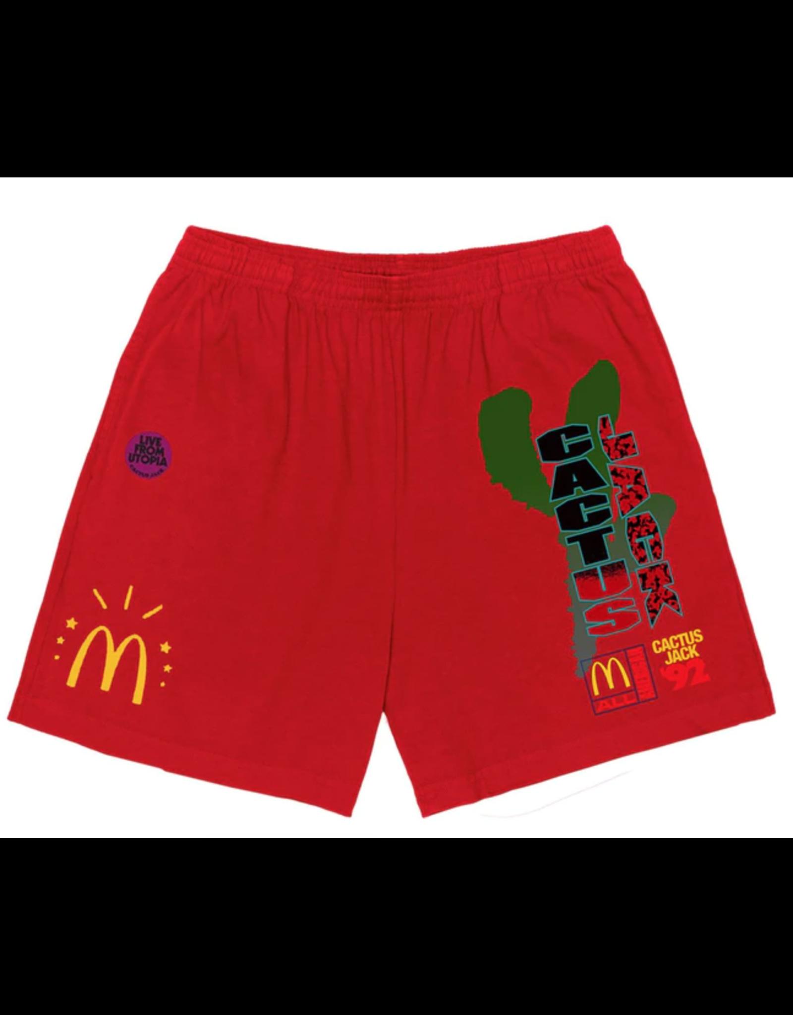 Travis Scott x McDonald's All American '92 Shorts Red