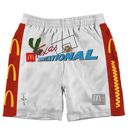 Travis Scott x McDonald's Cactus Jack All American Shorts White