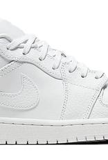 JORDAN 1 Low Triple White Tumbled Leather