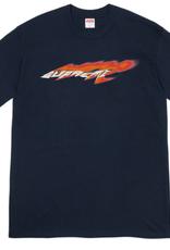SUPREME Navy Supreme Wind Tee - XL