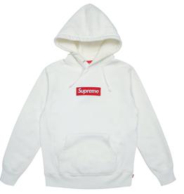 SUPREME Supreme Box Logo Hooded Sweatshirt White 2016 WORN LG