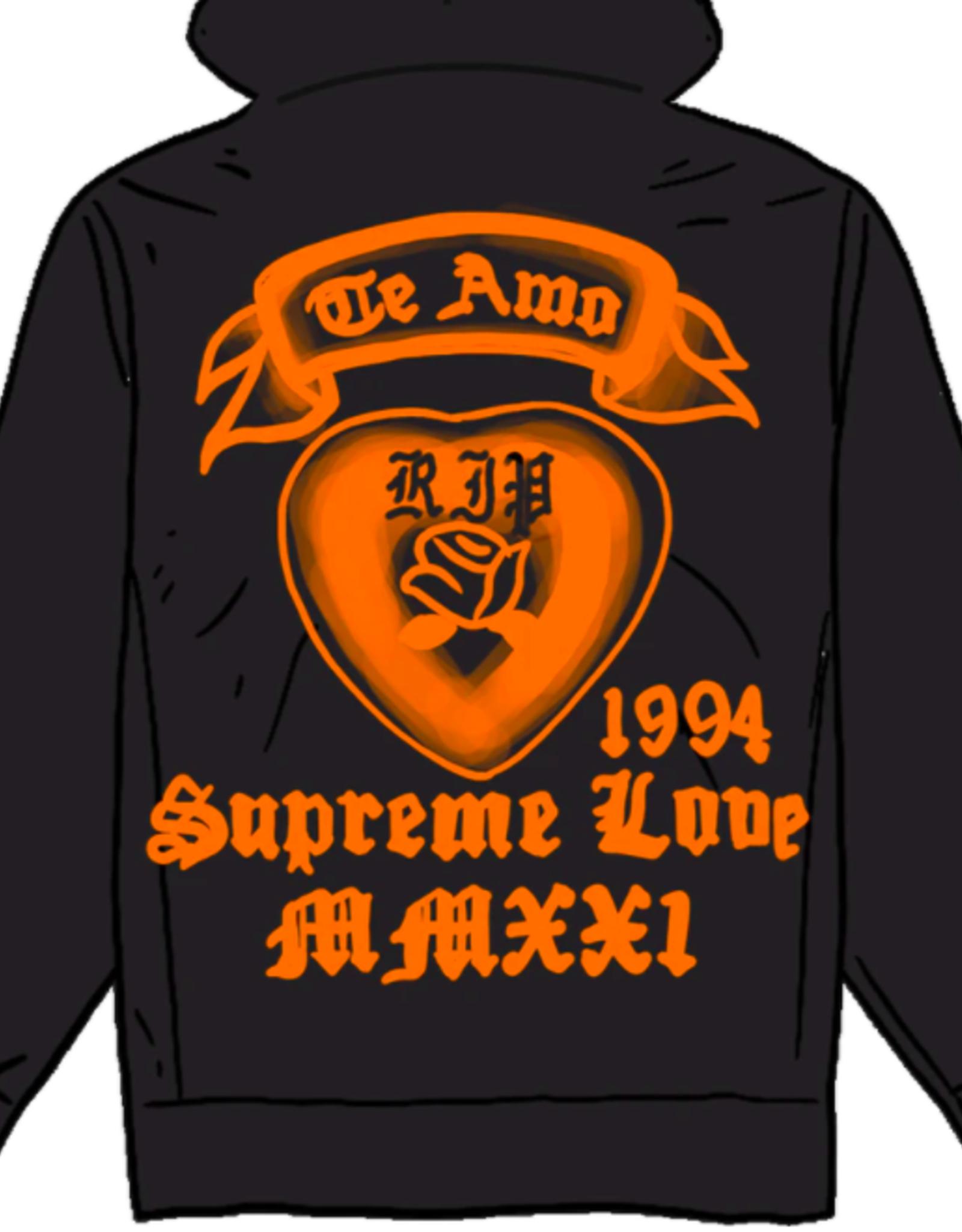 SUPREME Supreme Supreme Love Hooded Sweatshirt Black LG