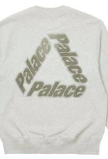 PALACE Palace P-3 Chenille Crew Grey Marl LARGE