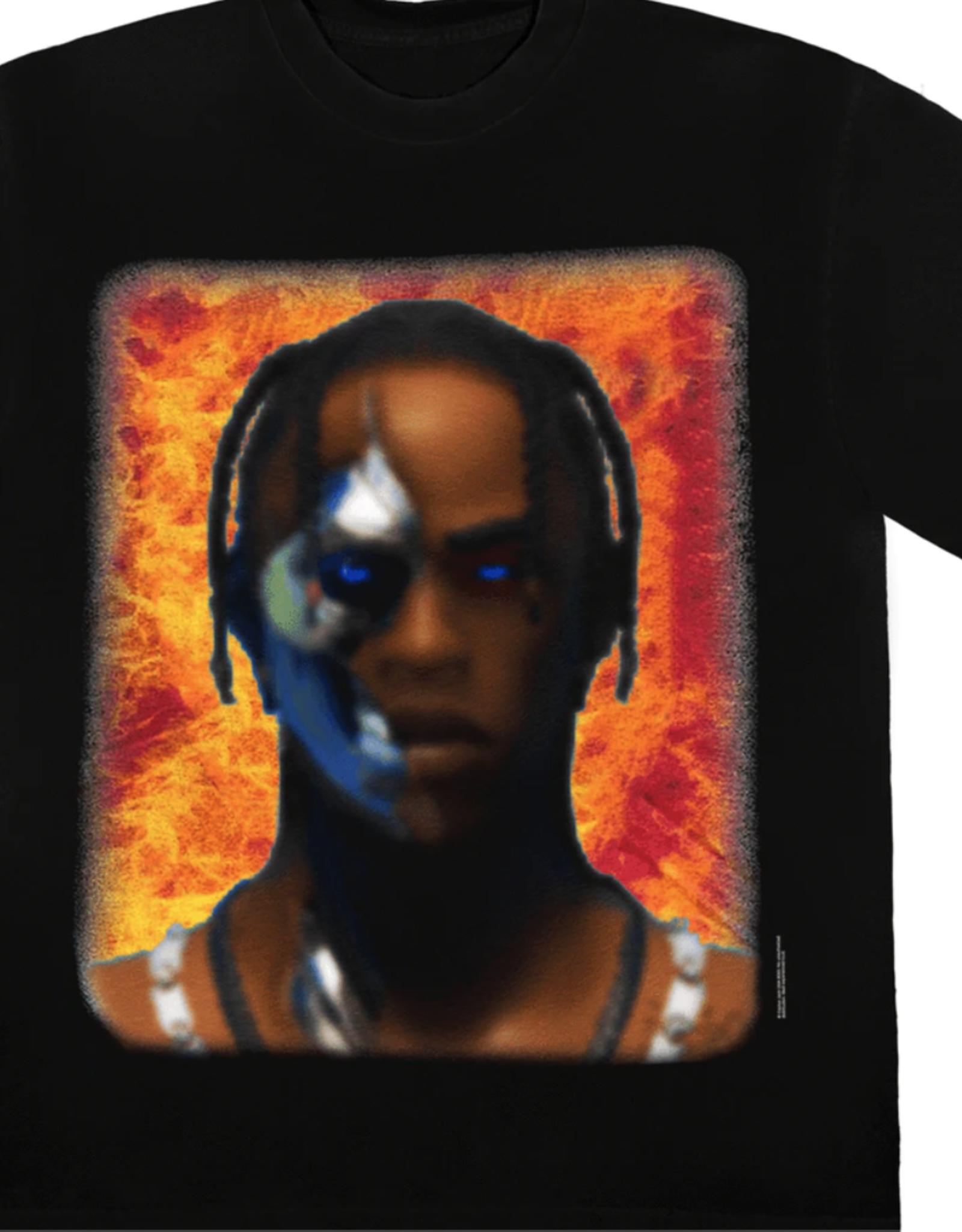 TRAVIS SCOTT Travis Scott T-3500 Portrait T-Shirt Black - XL