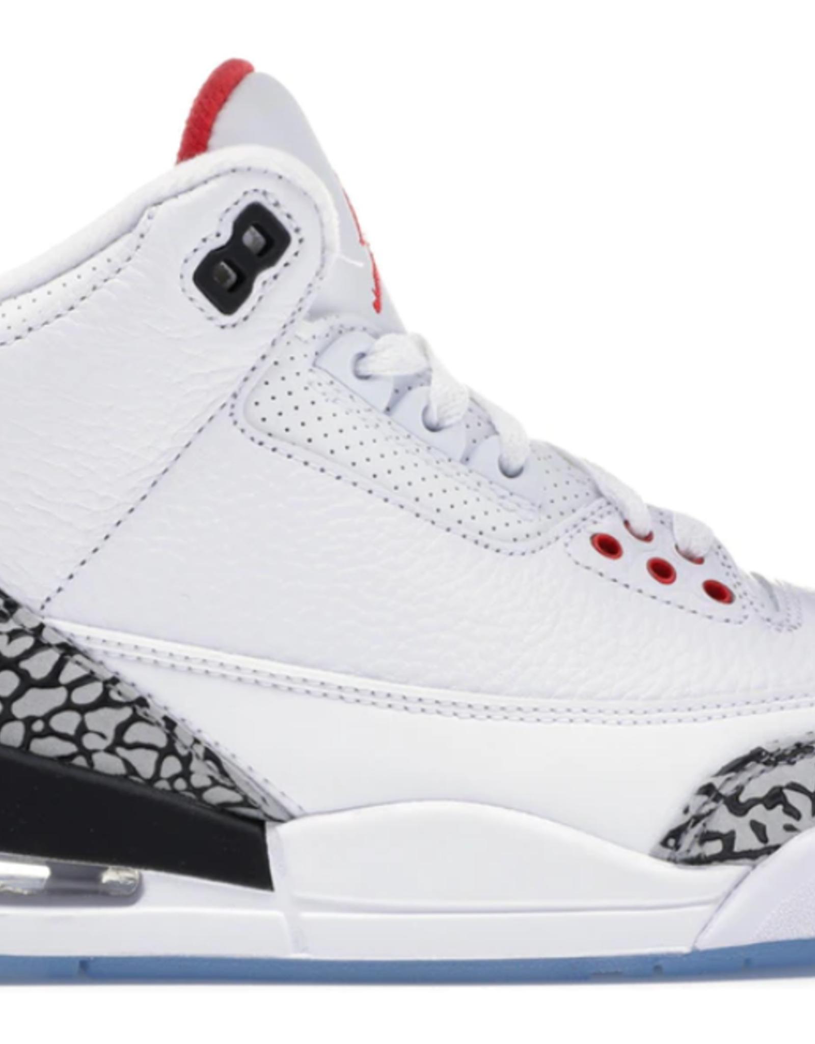 JORDAN Jordan 3 Retro Free Throw Line White Cement