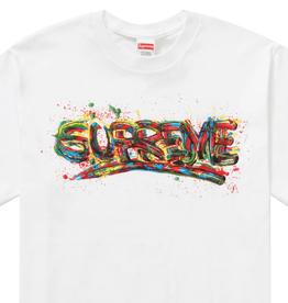 SUPREME Supreme Paint Logo Tee White - XL