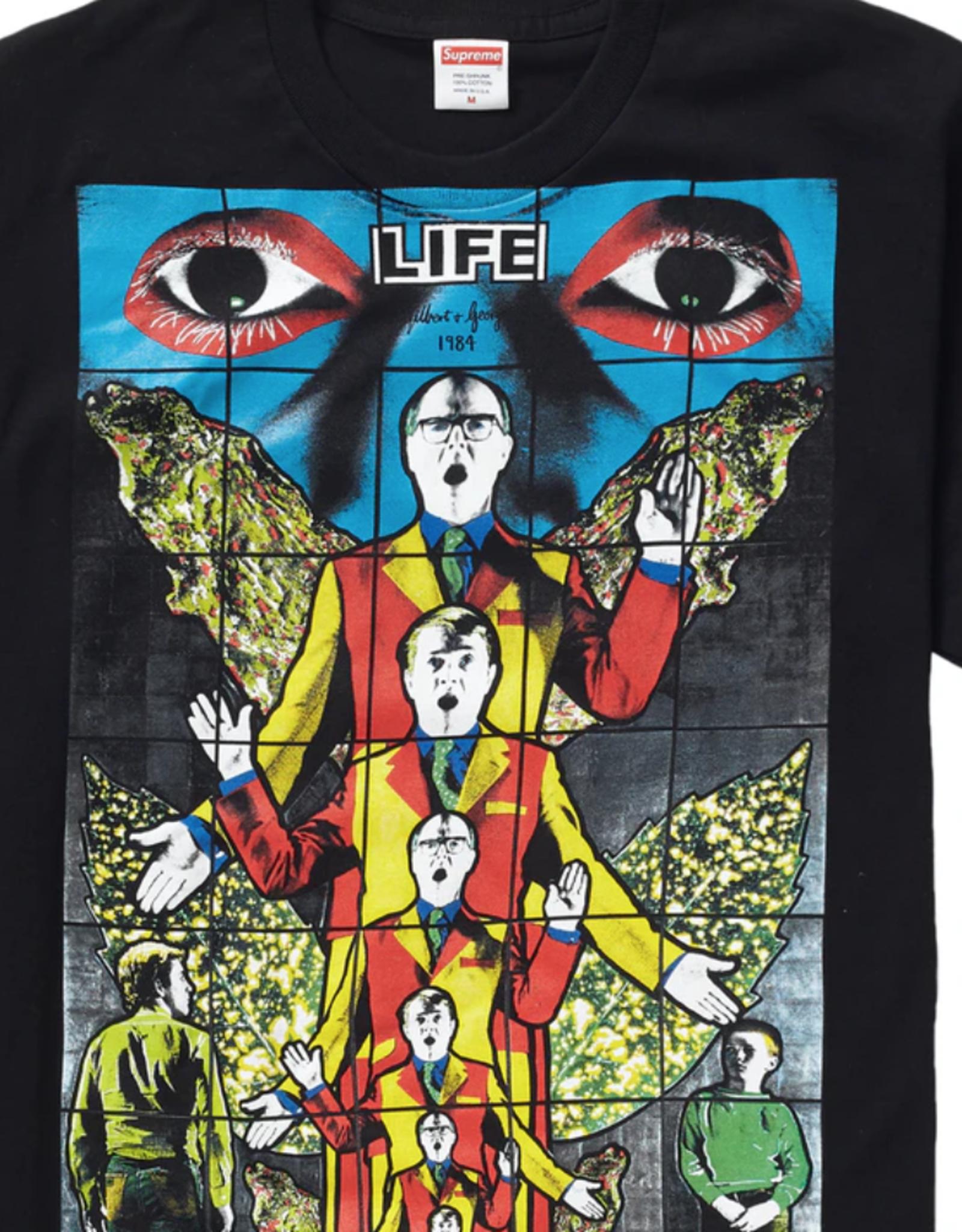 SUPREME Supreme Gilbert & George LIFE Tee Black - XL