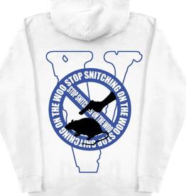 VLONE Pop Smoke x Vlone Stop Snitching Hoodie White/Blue - Small