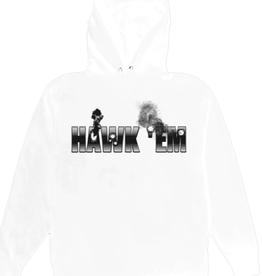 VLONE Pop Smoke x Vlone Hawk Em' Hoodie White - Small