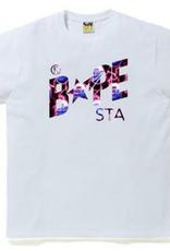 BAPE Bape Lightning Bape Sta Logo Tee - XLarge