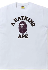 BAPE BAPE Color Camo College Tee White/Burgundy - Xlarge