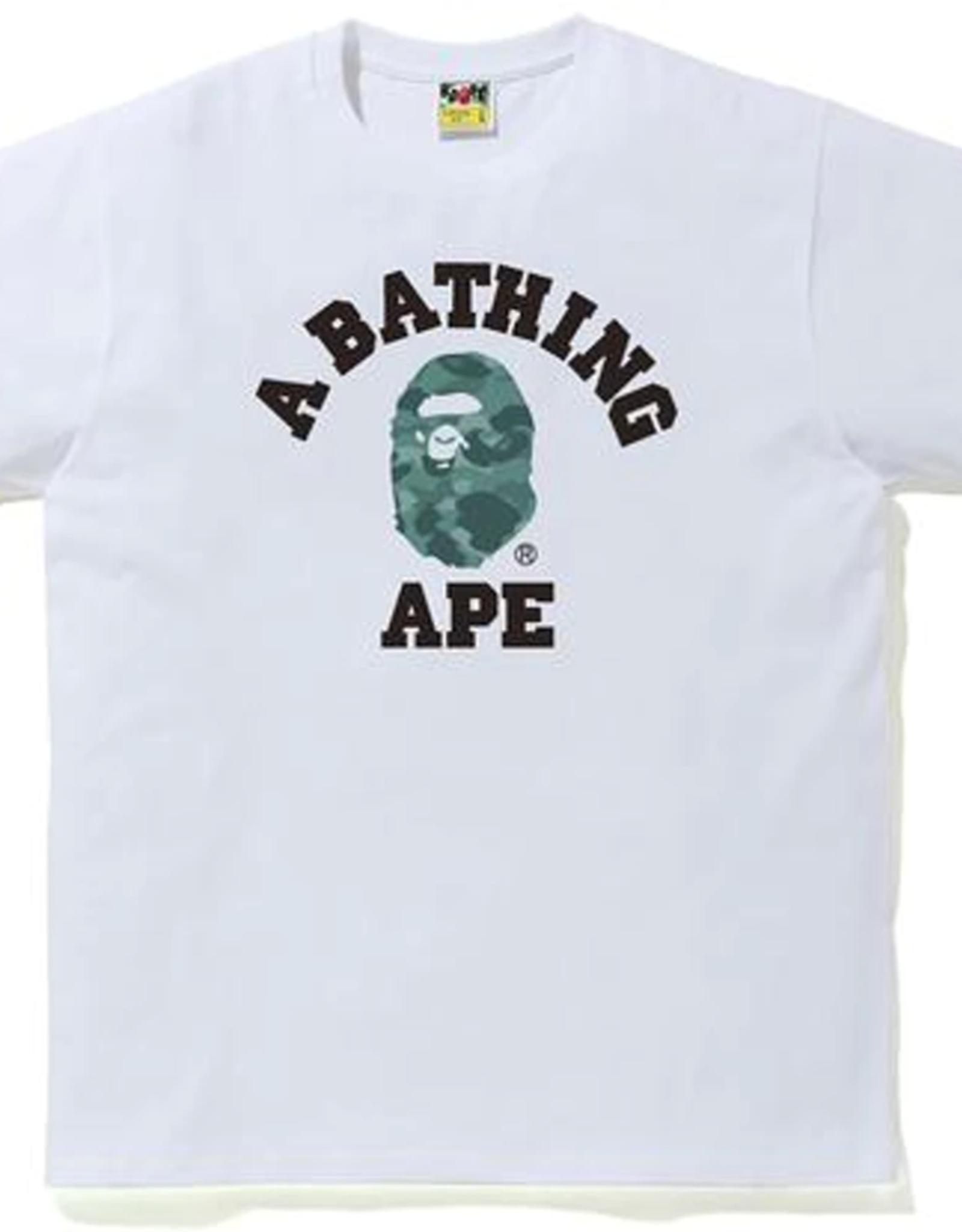 BAPE BAPE Color Camo College Tee White/Green - XL