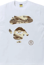 BAPE BAPE Desert Camo Ape Face Tee White/Beige - 2XL
