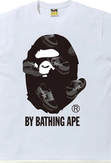 BAPE BAPE Sta Random by Bathing Ape Tee White/Black - 2XL
