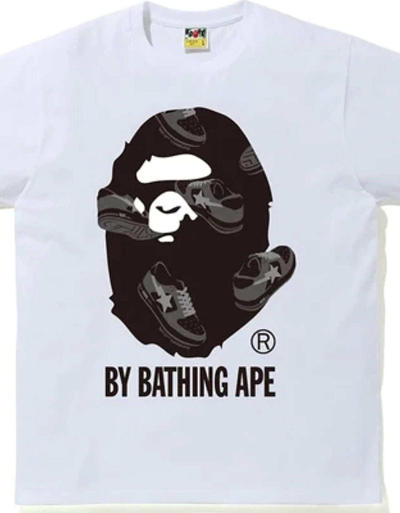 BAPE BAPE Sta Random by Bathing Ape Tee White/Black - XL