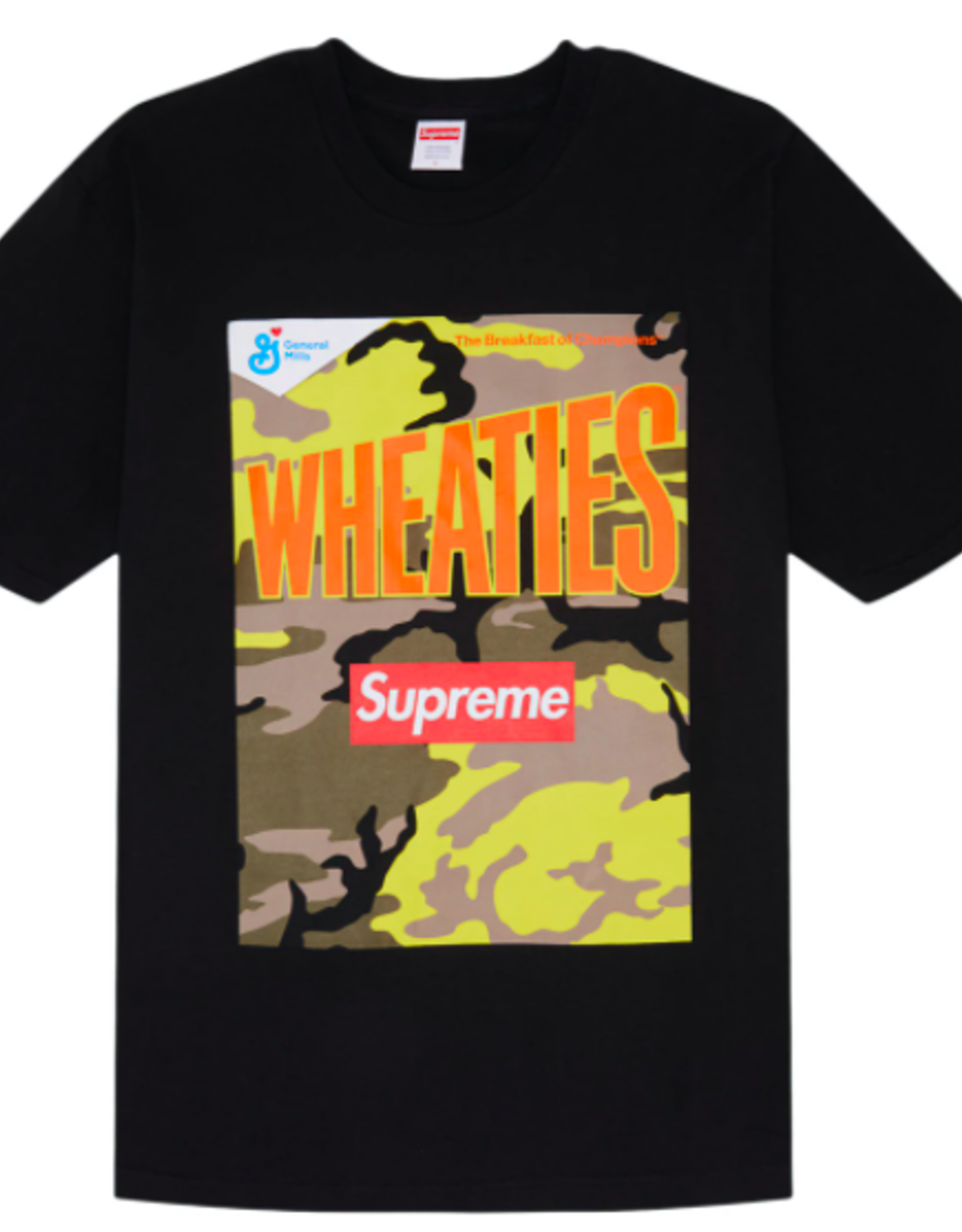 SUPREME Supreme Wheaties Tee Black SMALL