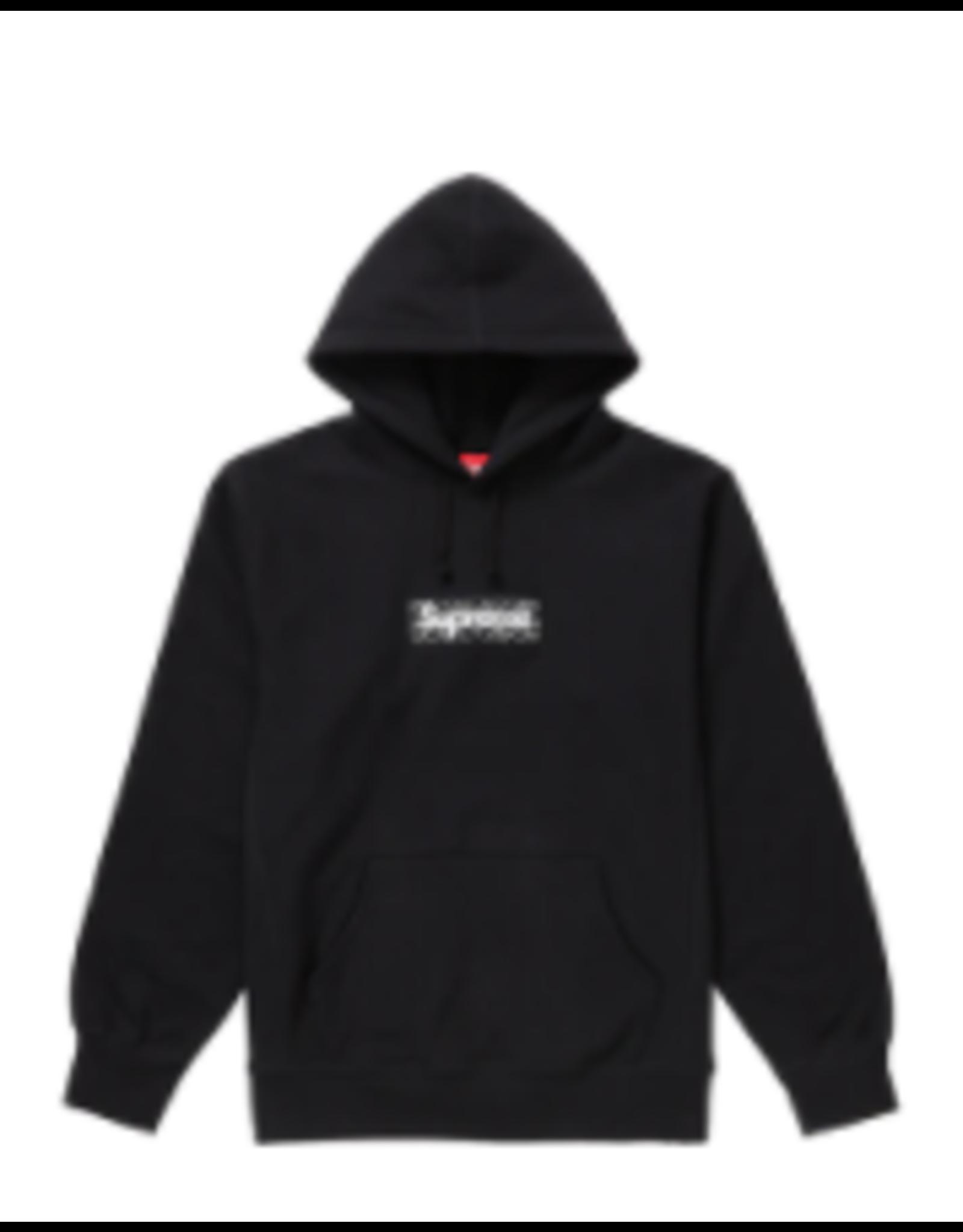 SUPREME Supreme Bandana Box Logo Hooded Sweatshirt Black - Large