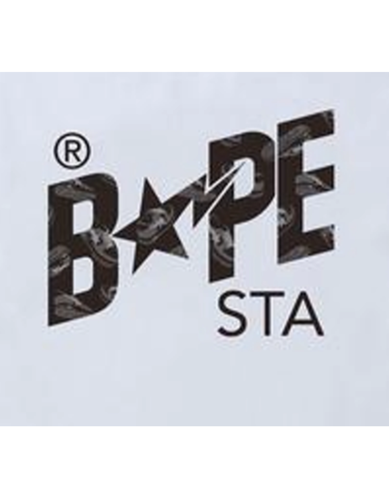 BAPE BAPE Random STA Logo Tee White/Black - Large