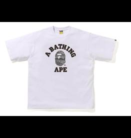 BAPE BAPE Desert Camo College Relaxed Tee White/Black