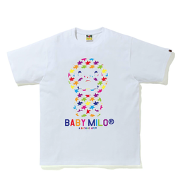 BAPE BAPE Sta Pattern Baby Milo Tee White