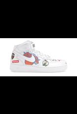 NIKE Nike Air Force 1 Mid Supreme NBA White