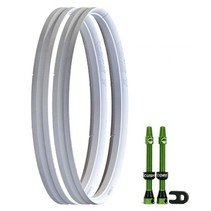 """CushCore Tire Inserts Set 29"""" Pair, Includes 2 Tubeless Valves"""