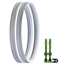 """CushCore Tire Inserts Set 27.5""""+ (plus-sized) Pair, Includes 2 Tubeless Valves"""