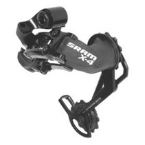 Sram, X4, Rear derailleur, 9/8/7 sp, Lng cage, Black