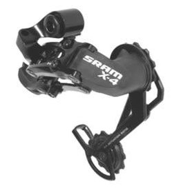 Sram Sram, X4, Rear derailleur, 9/8/7 sp, Long cage, Black
