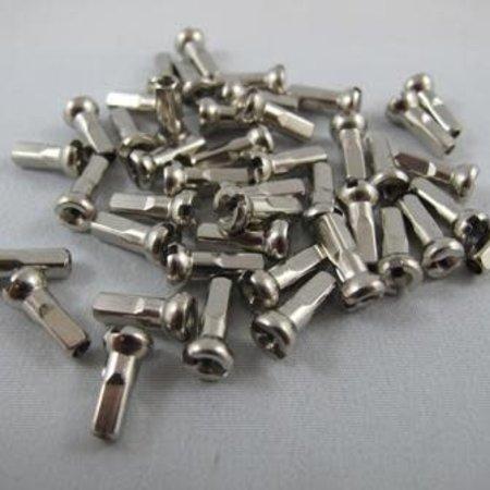 Sapim Nipple Brass 12mm, Silver, Polyax