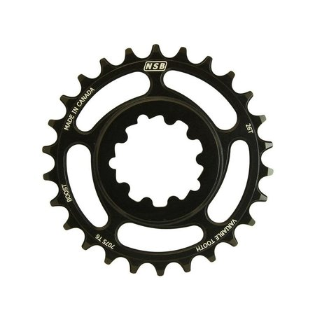 NSB NSB Variable Tooth Chainring, Direct Mount SRAM, Boost, 26T, Black