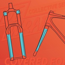 Ridewrap Covered Fork Protection Kit, Collective Series, Clear Matte Finish