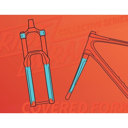 Ridewrap Ridewrap Covered Fork Protection Kit, Collective Series, Clear Matte Finish