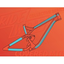 Ridewrap Covered Frame Protection Kit, MTB, Collective Series, Clear Gloss Finish, Large / X-Large Frame Size