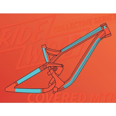 Ridewrap Ridewrap Covered Frame Protection Kit, MTB, Collective Series, Clear Gloss Finish, Large / X-Large Frame Size