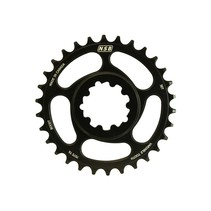 NSB Variable Tooth Chainring, Direct Mount SRAM, Boost, 30T, Black
