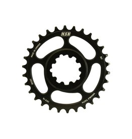 NSB NSB Variable Tooth Chainring, Direct Mount SRAM, Boost, 30T, Black