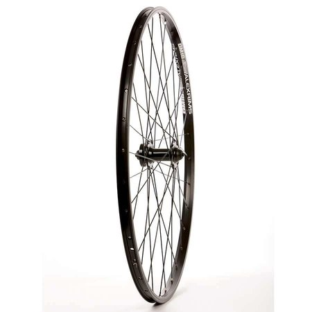 Wheel Shp, Rear 700C Wheel, 32H Black Ally Duble Wall Alex DM-18/ Black Shiman FH-RM70 QR 8-10spd Hub, DT Black Stainless Spkes
