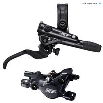 Shimano Deore XT BL-M8100/BR-M8100 Disc Brake and Lever - Rear, Hydraulic, Post Mount, 2-Piston, Black