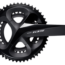 SHIMANO FC-R7000, 105, FOR REAR 11-SPEED, HOLLOWTECH 2, 172.5MM, 50-34T W/O CG, W/O BB PARTS, BLACK, IND.PACK