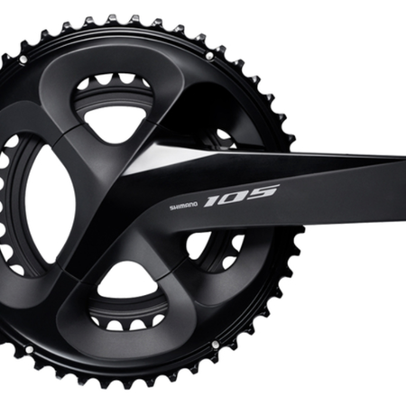Shimano SHIMANO FC-R7000, 105, FOR REAR 11-SPEED, HOLLOWTECH 2, 172.5MM, 50-34T W/O CG, W/O BB PARTS, BLACK, IND.PACK