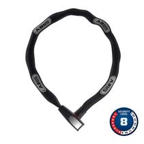 Abus, 8807K Steel-O-Chain, Chain Lock, Key, 7mm, 110cm, 3.6', Black