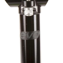 EVO, Barrel Head, Seatpost, Black, 25.4mm