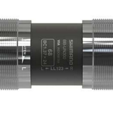 Shimano Shimano, BB-UN300 LL113, Square Taper BB, British, 73mm, : 113mm, Silver