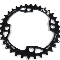 NSB Variable Tooth Chainring, 4 Bolt, 104 BCD, 34 Tooth, Black