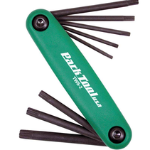 Park Tool, TWS-2, Flding Torx wrenches, T7, T9, T10, T15, T20, T25, T27, T30 and T40