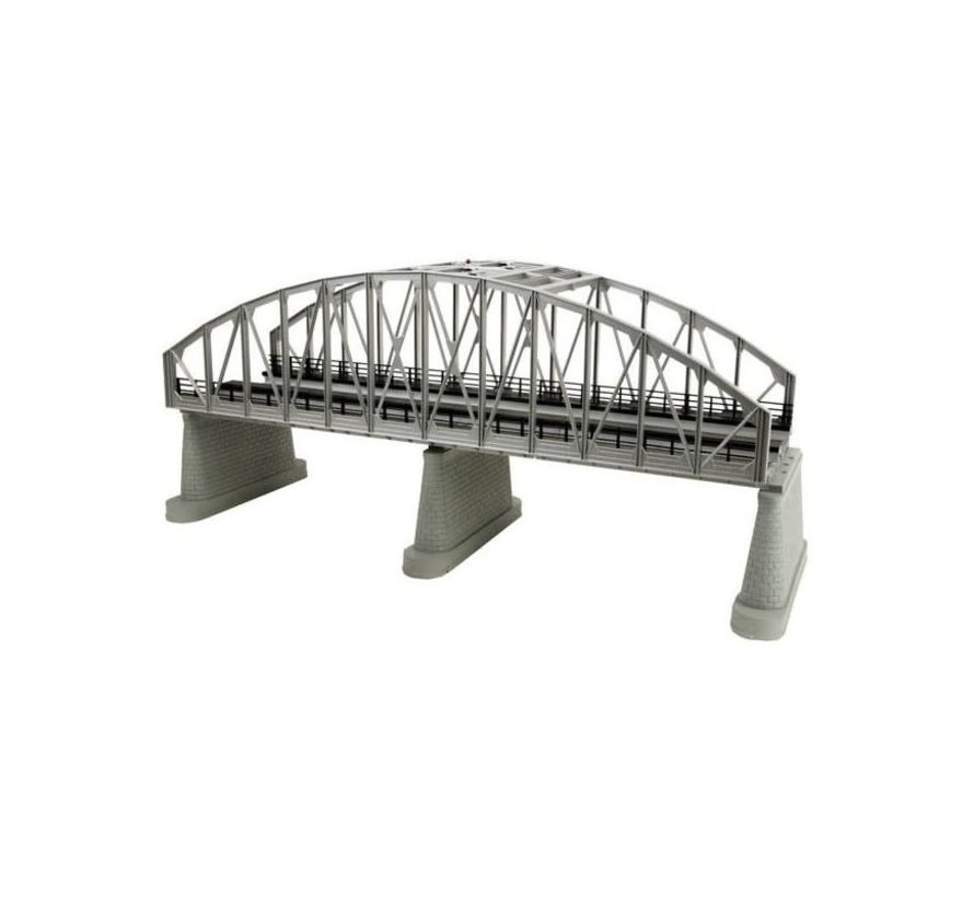 MTH : O 2-Track Steel Bridge Girder Silver (New)